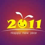 A picture of 2011 with a Happy New Year Sign under it