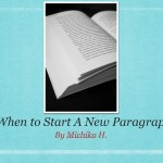 When to start a new paragraph title slide